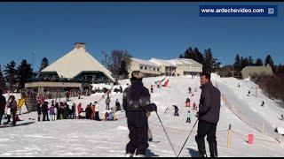 Ardèche - Ski de piste à la Croix de Bauzon