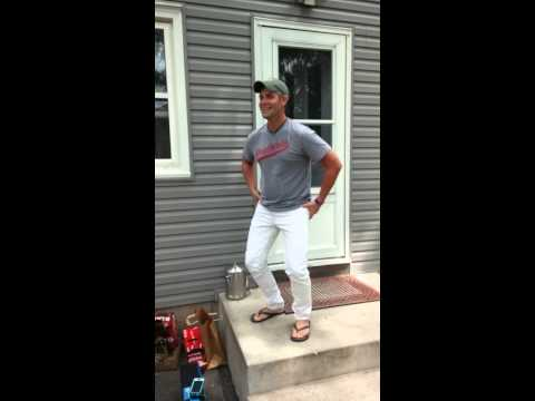 Jason Edward in tight white pants