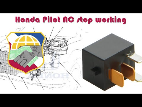 honda pilot ac stop working - how to troubleshoot hvac compressor relay  g8hl-h71 - air condition - youtube