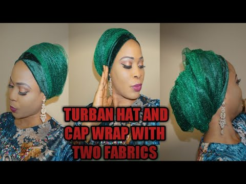 Download How to sew turban with velevet and net fabric