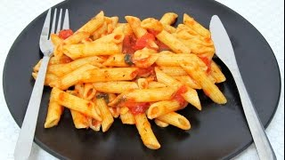 Penne Pasta Arrabiata - Penne Larrabiata Recipe (vegetarian)