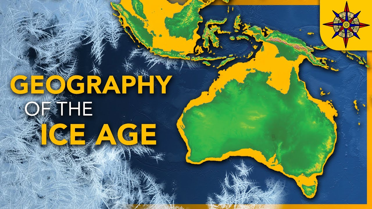 Ice Age World Map The Geography of the Ice Age   YouTube