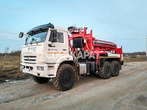 Бурильно-крановая машина Kanglim KDC-5600 на базе КАМАЗ-43118