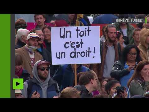 Suisse : manifestation pour le logement abordable à Genève