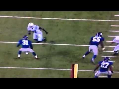 Wildest catch ever by Reggie Wayne WOW vs Giants (Colts)