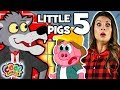 The Three Little Pigs 🐷Chapter 5🐷 BRAND NEW Story Time with Ms. Booksy | Cartoons for Kids