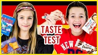 AMERICAN KIDS TRY GERMAN TREATS! TREATS TASTE TEST