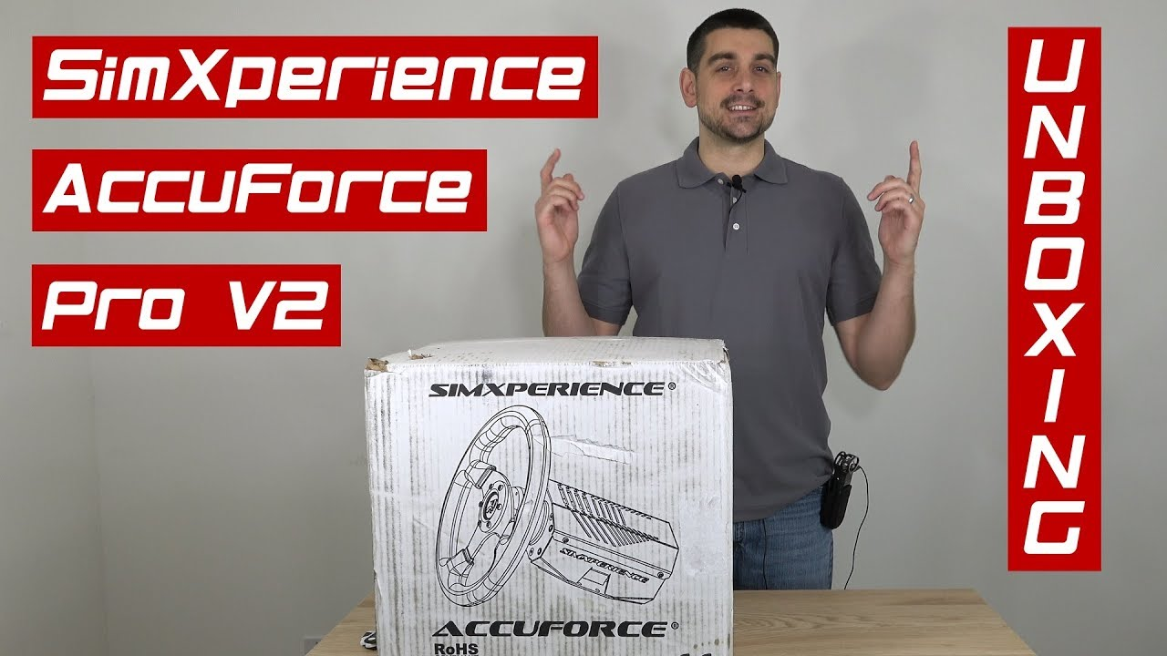 Unboxing Our New Wheel - SimXperience AccuForce Pro V2
