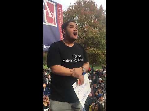 American University Flag Burning Protest. 9 November 2016
