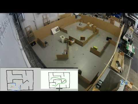 Autonomous Indoor Robot Navigation Using Sketched Maps and Routes