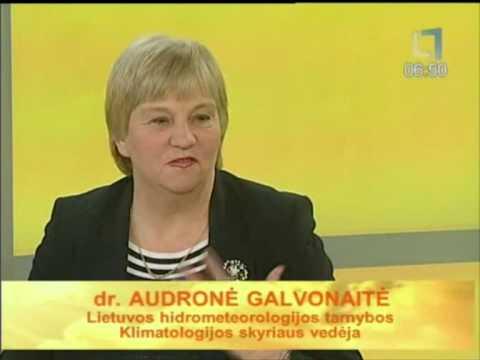 Apie žiemiškus orus ir prabėgusį sausį kalbėjo klimatologe Audronė Galvonaitė