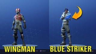 FORTNITE How To Get FREE BLUE STRIKER SKIN PS4 + WINGMAN SKIN Gameplay In Fortnite LIVE!