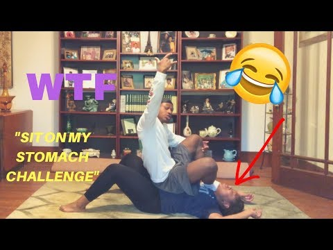 SIT ON MY STOMACH CHALLENGE!! HE VOMITED