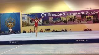 Катя на Первенстве России по спортивной гимнастике в Пензе. Произвольная программа. Вольные