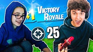 This Deaf Fortnite Pro EWOK Carried Me To A WIN!