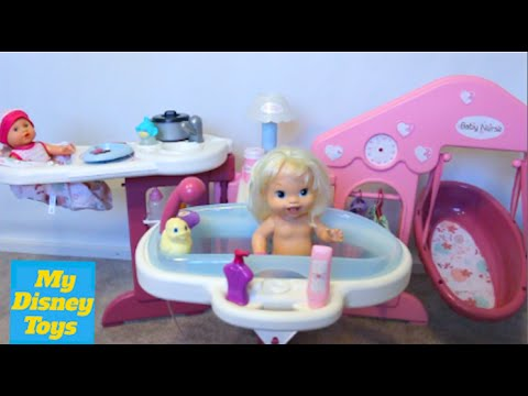 Baby Doll Nursery Care Real toy set playing kids fun play toys review by My Disney Toys