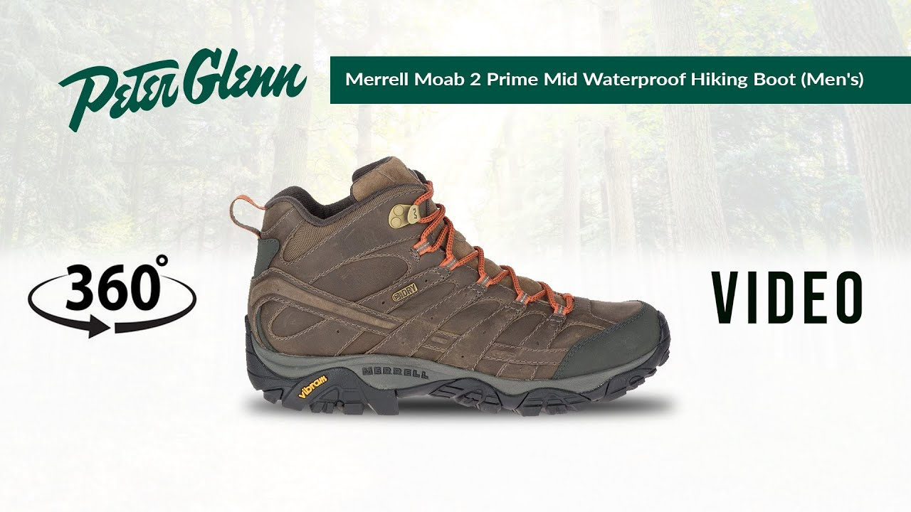 merrell moab 2 prime mid waterproof hiking boots - men's