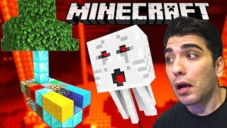 MİNECRAFT RASTGELE SKYBLOCK ama NETHER'da