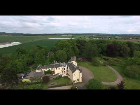 Scotland Drone Video Myres Castle
