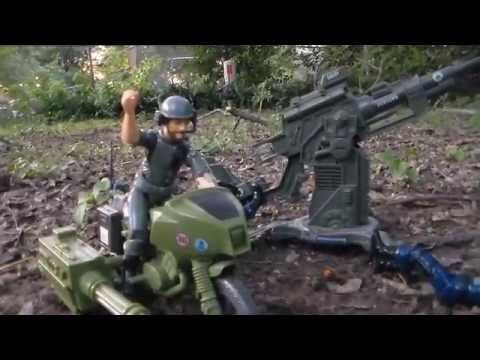 HCC788 - Breaker takes the FLAK! G. I. Joe toy ACTION SCENE! HD