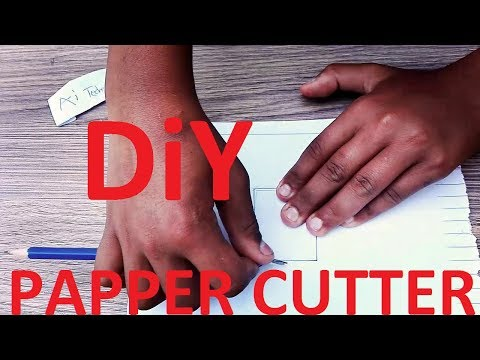 USE PENCIL or SHARPNER As PAPER CUTTER (DiY)TECHANiCAL