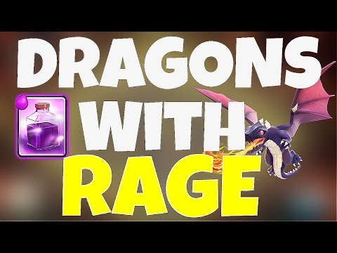 TH7 Mass Dragon With 3 Rage Spells - Clash Of Clans