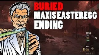 """BURIED"" Maxis Easteregg Complete Ending! Maxis Is Evil Secret! Black Ops 2 Zombies Gameplay"