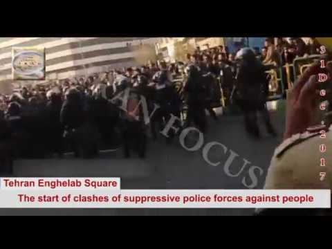 Iran Protests:Tehran – 31 December 2017 – Anti-government protests continue for fourth day