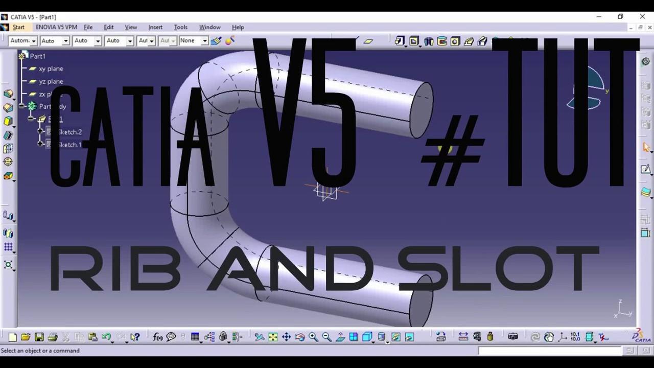 catia v5 rib and slot command in catia tutorial youtube rh youtube com