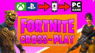 How To Fortnite CROSS-PLAY! (Xbox/PS4/Mobile/PC Cross-Platform Play) PLAY W/ FRIENDS ON ALL PLATFORM