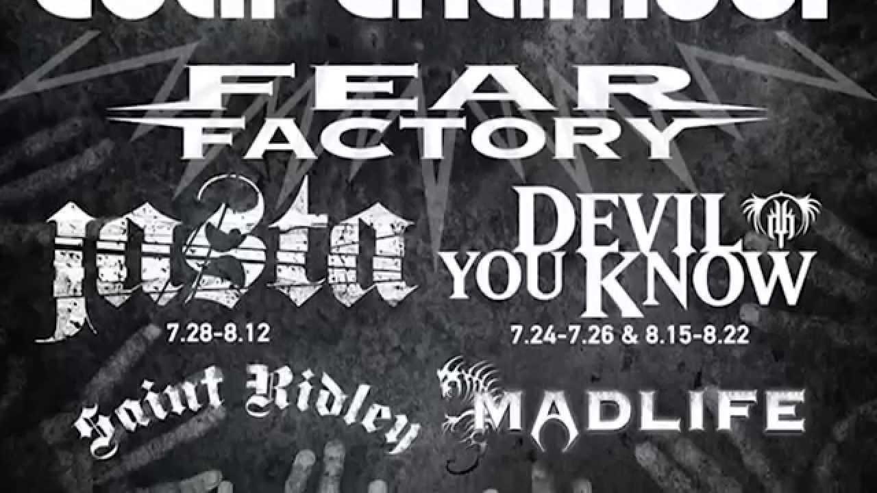 FEAR FACTORY — Genexus Summer U.S. Tour 2015