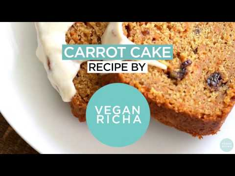 Vegan Carrot Cake With Cinnamon Cashew Frosting - VeganRicha.com