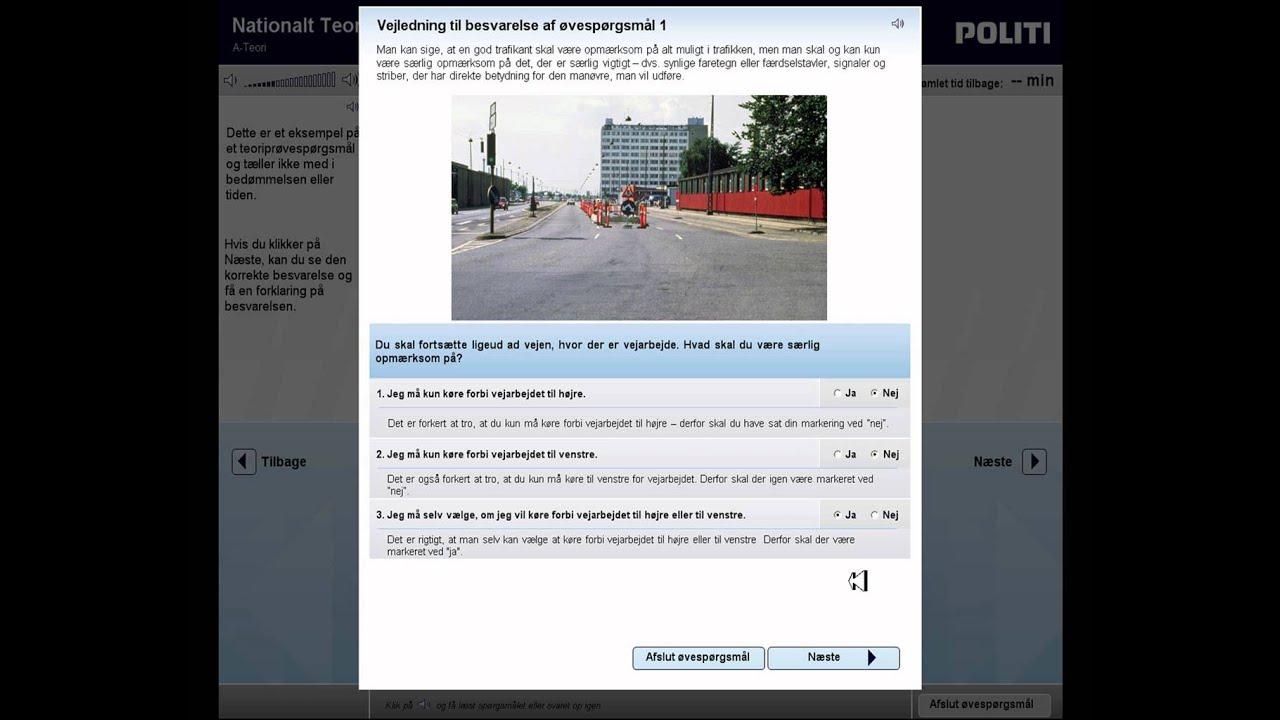 spørgsmål til teori kørekort