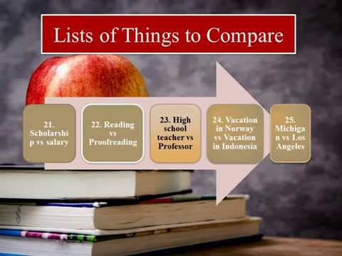 comparison and contrast of high school The compare/contrast essay is easy contrast essay to regular classes of high school sophomores whose compare/contrast.