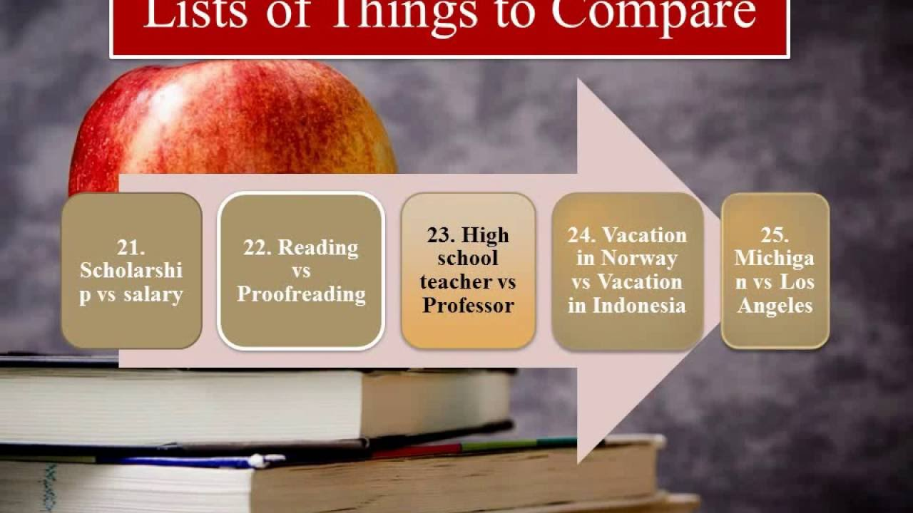 Compare and Contrast Essay ideas - YouTube