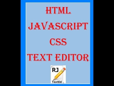 The Best HTML Text Editor/IDE: RJ TextEd || Two