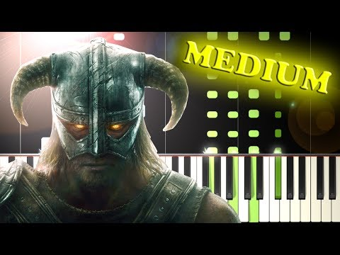 DRAGONBORN - SKYRIM THEME - Piano Tutorial