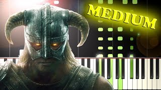 Dragonborn SKYRIM THEME - Piano Tutorial.mp3