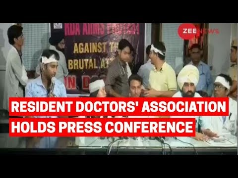AIIMS Resident Doctors' Association holds Press Conference in Delhi