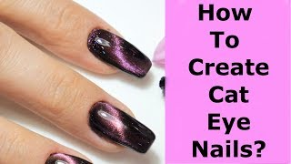 NaiL SUNNY: How To Create Cat Eye Nails?\\КАК ДЕЛАТЬ КОШАЧИЙ ГЛАЗ НА НОГТЯХ