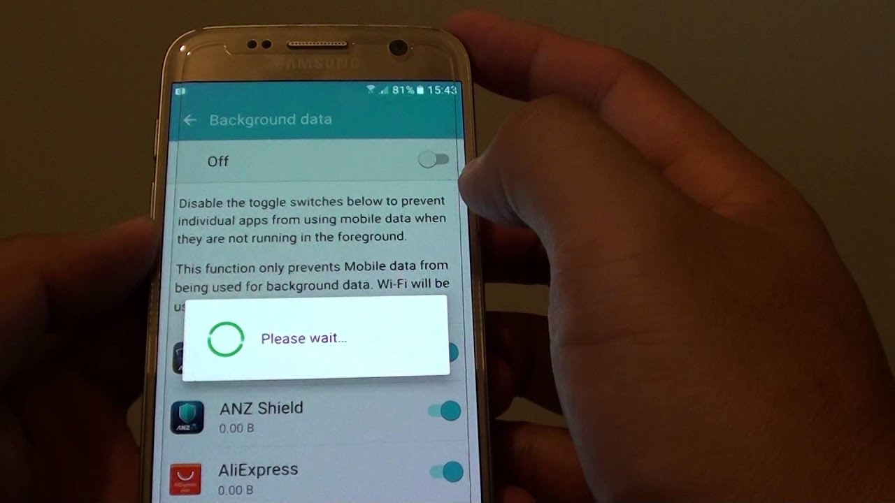 samsung galaxy s7 how to enable disable background mobile data youtube