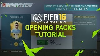 FIFA 16 Ultimate Team Tutorial - Opening Packs