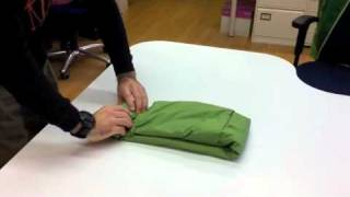 How to fold a packaway jacket