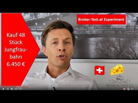6.450 € in Jungfraubahn Aktien investiert 💶 Das Experiment Teil 7 - Broker-Test.at