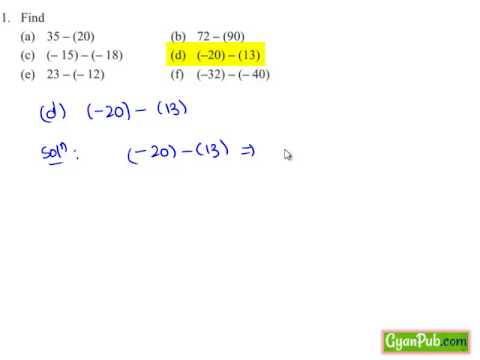 Subtraction Of Integers By Adding Additive Inverse Of Integer Youtube