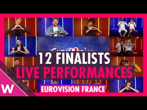 Eurovision France 2021: All 12 Live performances @ C?est vous qui décidez! Press Conference