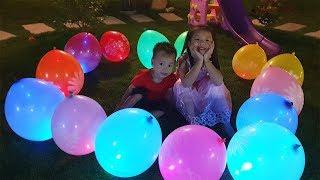 Van Playing Magic with Glowing Balloons Story for Kids, BaBiBum