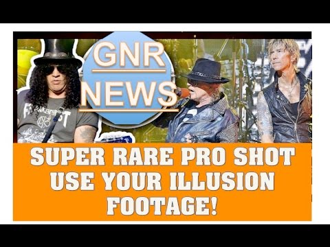 Guns N' Roses Super RARE Pro Shot Footage Use Your Illusion Tour! Italy, Sweden, Brazil & More!