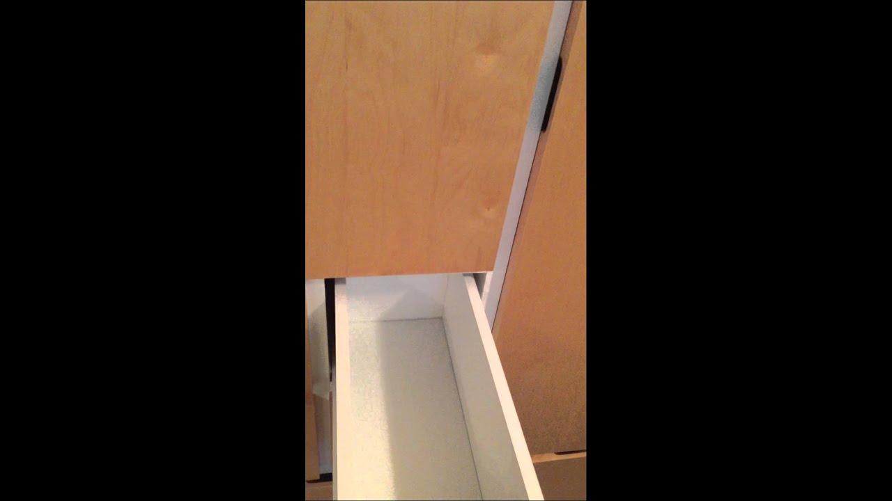 ikea rakke wardrobe with birch veneer youtube. Black Bedroom Furniture Sets. Home Design Ideas