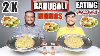 BAHUBALI MOMOS EATING CHALLENGE | Momos Challenge | Momos Eating Competition | Food Challenge